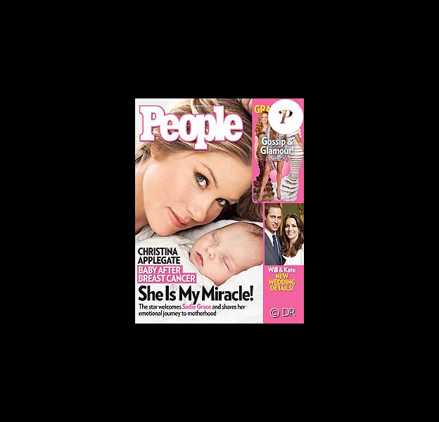 Christina Applegate en couverture de People avec sa fille Sadie