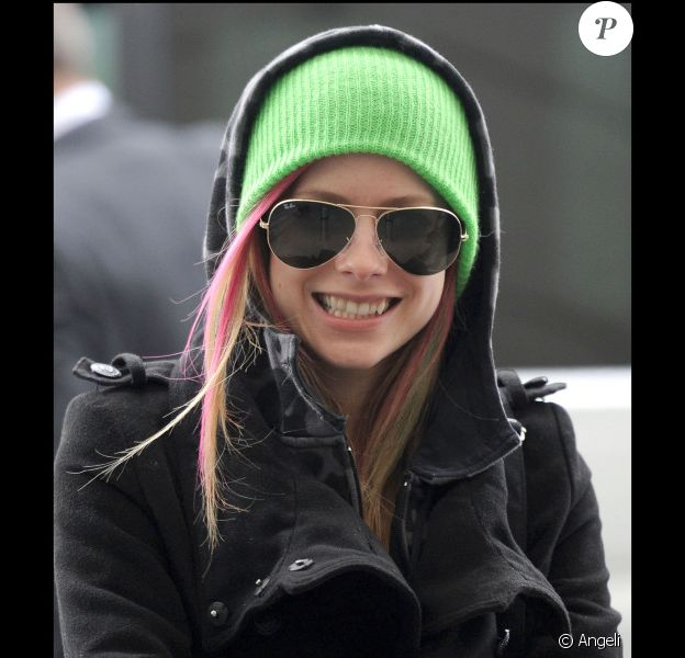 Avril Lavigne et Brody Jenner à l'aéroport d'Heathrow à Londres le 17 février 2011