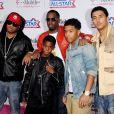 P. Diddy et ses fils à la soirée des NBA All-Star Game, à Los Angeles le 20 février 2011