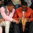 Nick Cannon et P. Diddy à la soirée des NBA All-Star Game, à Los Angeles le 20 février 2011