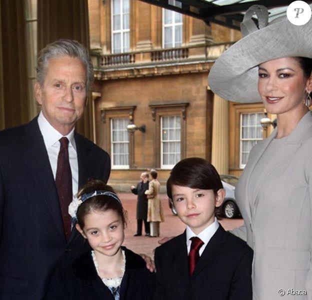 Catherine Zeta-Jones, Michaël Douglas et leurs enfants Dylan et Carys
