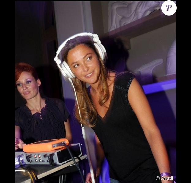 Sandrine Quétier au lancement de la nouvelle chaîne Stylia, en septembre 2010.