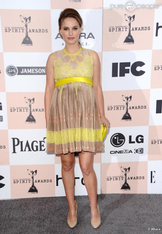Natalie Portman à la cérémonie des Film Independent Spirit Awards à Santa Monica, le 26 février 2011.
