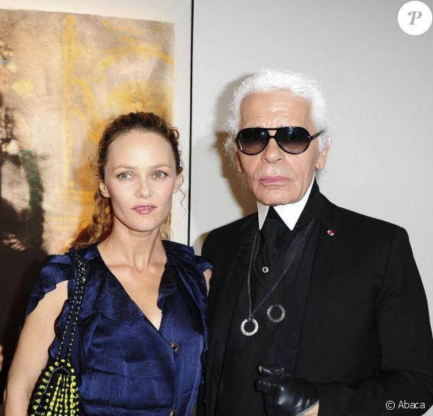 Karl Lagerfeld et Vanessa Paradis en septembre 2010
