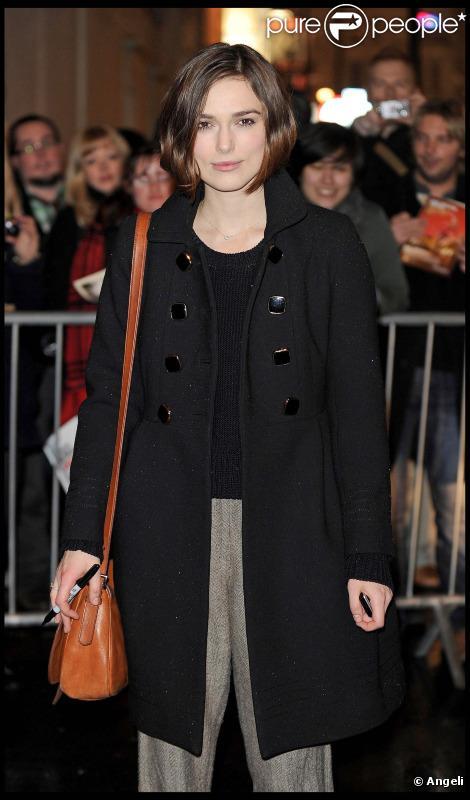 Keira Knightley en février 2011 à Londres