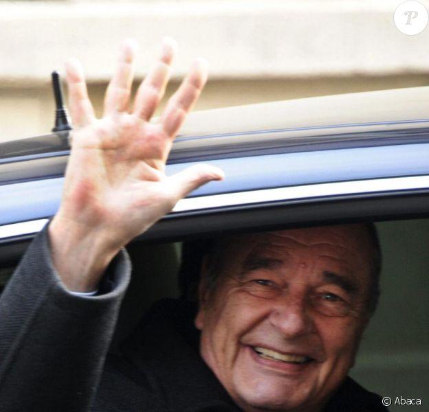 Jacques Chirac, le 31 janvier à Paris.