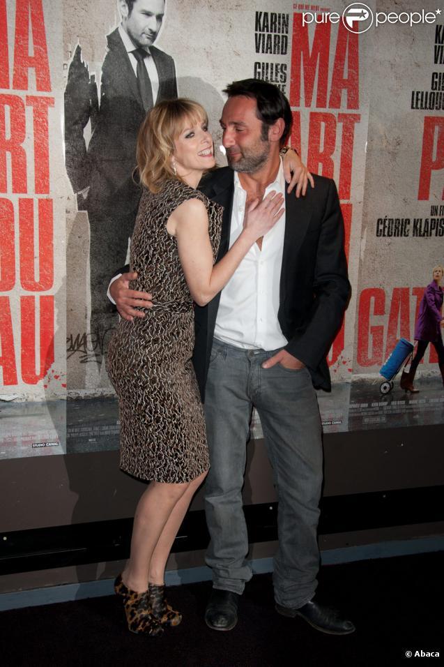 Karin Viard et Gilles Lellouche lors de l'avant-première du film Ma part du gâteau le 8 mars 2011 à Paris