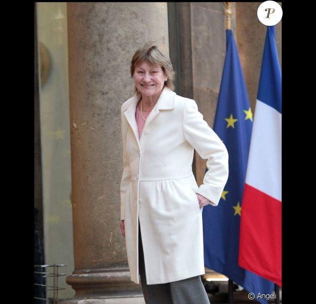 Marisa Bruni Tedeschi lors de la remise de décorations à l'Elysée le 9 mars 2011