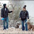 Justin Timberlake et Jessica Biel à Memphis avec leur chien Tina en novembre 2008