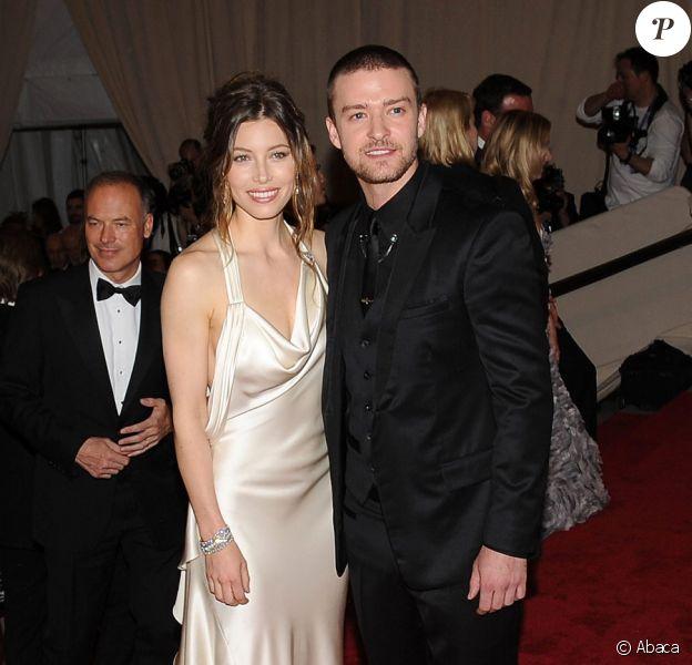 Justin Timberlake et Jessica Biel lors du Costume Institute Gala à New York en mai 2010