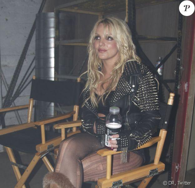 Britney Spears, sur le tournage de son clip Till the world ends, jeudi 17 mars.