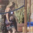 Kate Hudson et son compagnon Matthew Bellamy en vacances à Los cabos au Mexique, le 6 mars 2011