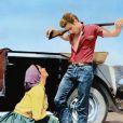 Liz Taylor et James Dean sur le tournage de Geant