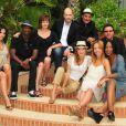 Equipe d'acteurs de PBLV, notamment Fabienne Carat, Cécilia Hornus, David Baiot ou Elodie Varlet. Juin 2010, à Monaco.
