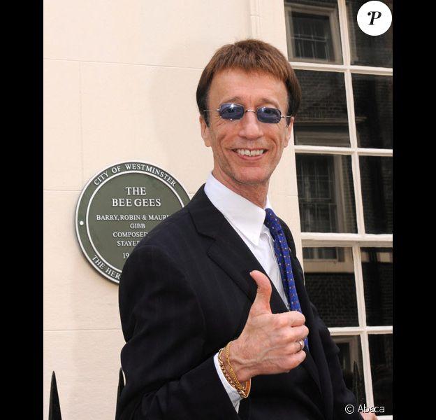 Robin Gibb des Bee Gees à Londres en mai 2008