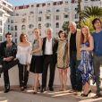 Toute l'équipe présente la série européenne Borgia au MIPTV 2011, bientôt diffusée sur Canal + (5 avril 2011 à Cannes)
