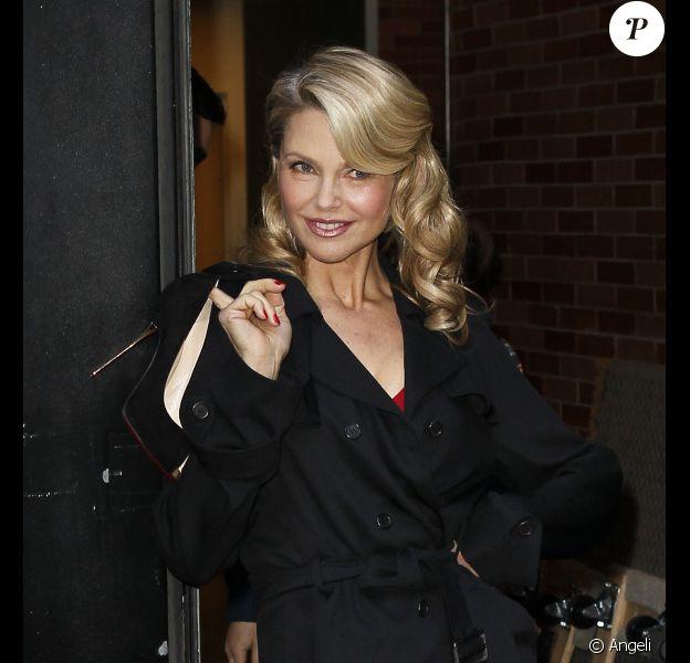 Christie Brinkley à la sortie des Studios de Good Morning America le 6 avril 2011