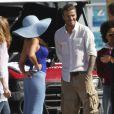 David Beckham en tournage pour Pepsi Light avec Sofia Vergara, à Los Angeles, le 28 mars 2011.