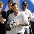 David Beckham, vidéo Pepsi Light, à Los Angeles, le 28 mars 2011.