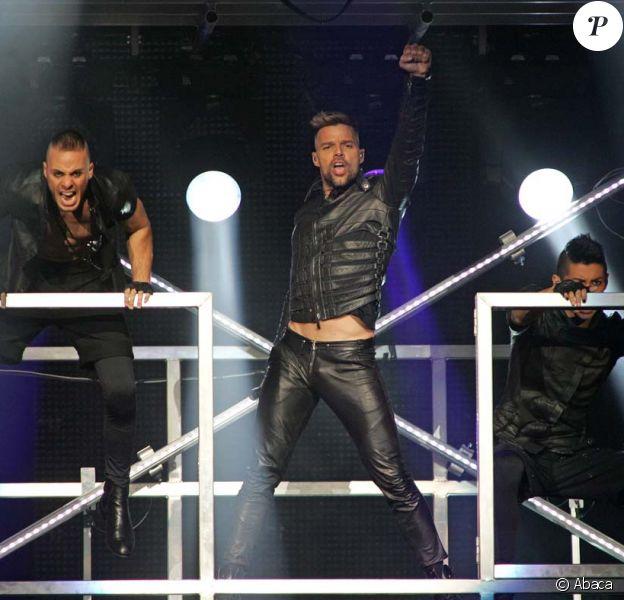 Ricky Martin en concert à Miami, le 9 avril 2011.