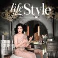 Dita von Teese en couverture du magazine In Style UK