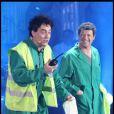 Le duo d'humoriste Les Chevaliers du Fiel enregistre l'émission  Les Années Bonheur , pour une diffusion le samedi 25 juin, à 20h45 sur France 2.