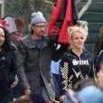Britney Spears et son actuel petit ami Jason Trawick, à Los Angeles, le 19 mars 2011.