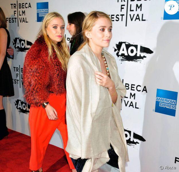 Mary-Kate et Ashley Olsen lors de la projection de The Union, dans le cadre du festival de Tribeca à New York le 20 avril 2011