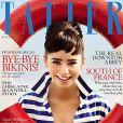 Lily Collins en couverture du magazine Tatler