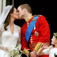 Kate Middleton et le Prince William lors de leur mariage, le 29 avril 2011, à Londres.