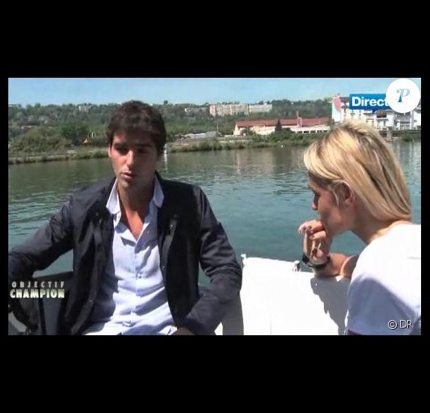 Yoann Gourcuff interviewé par Cécile de Ménibus dans l'émission Objectif Champion, diffusé sur Direct 8 samedi 7 mai à 18h