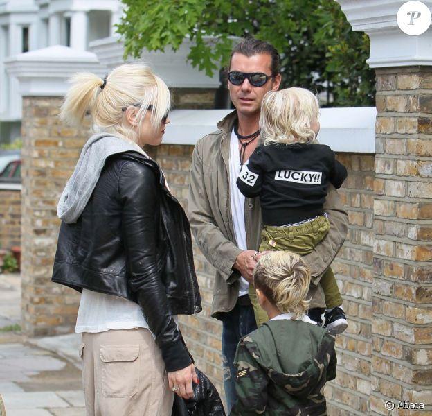 Gwen Stefani, Gavin Rossdale, Kingston et Zuma rendent visite à Gwyneth Paltrow, Chris Martin et leurs enfants, le 7 mai 2011