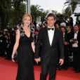 Melanie Griffith et Antonio Banderas lors de la cérémonie d'ouverture du 64ème Festival de Cannes, le 11 mai 2011.