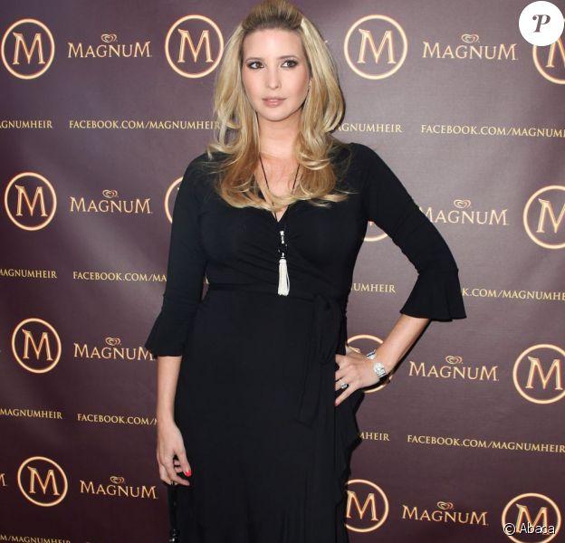 Ivanka Trump, enceinte, à Toronto au Canada pour lancer les bars à glaces Magnum le mercredi 11 mai 2011.