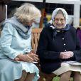 La reine Elizabeth II et Camilla très en forme au Royal Windsor Horse Show, le 12 mai 2011.