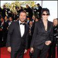 Bernard Montiel et Yamina Benguigui à l'occasion de la présentation de  The Tree of Life  dans le cadre du 64e Festival de Cannes, le 16 mai 2011.