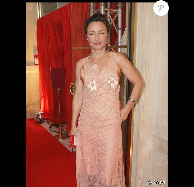 Catherine Frot aux César le 27 février 2009. Elle va jouer la cuisinière du Président dans Les Saveurs du Palais. On en salive d'avance...