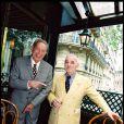 """Charles Trenet et Charles Aznavour, Paris, le 23 mai 1999. """