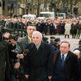 """""""Charles Aznavour aux obsèques de Charles Trenet, Paris, le 23 février 2001"""""""