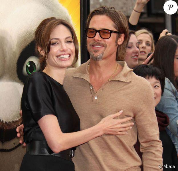 Angelina Jolie et Brad Pitt à l'occasion de l'avant-première de Kung Fu Panda 2, au Grauman's Chinese Theatre de Los Angeles, le 22 mai 2011.