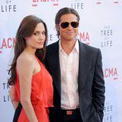 Angelina Jolie sublime en rouge aux côtés d'un Brad Pitt rajeuni !