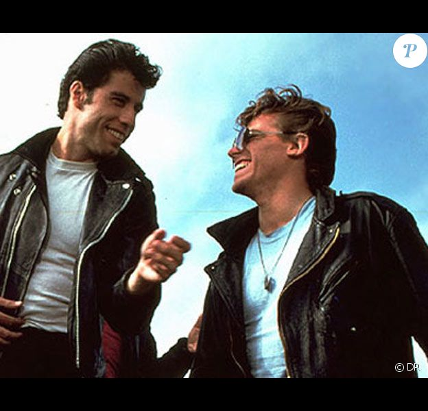Jeff Conaway et John Travolta dans la comédie musicale Grease