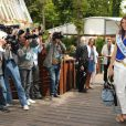Miss France 2011 Laury Thilleman lors des Internationux de France de Roland-Garros, à Paris, le 28 mai 2011.