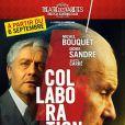 Michel Bouquet et Didier Sandre sur l'affiche de la pièce Collaboration