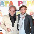 Olivier Baroux et Jean-Paul Rouve à l'occasion de l'avant-première de  Monsieur Papa , à Paris, le 31 mai 2011.