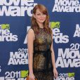 Emma Stone en Bottega Veneta a frappé un grand coup lors des MTV Movie Awards le 5 juin 2011