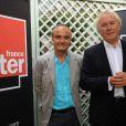 Philippe Val et Jean-Luc Hees, conférence de presse de rentrée de Radio France, le 28 août 2009.
