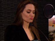 Angelina Jolie : Découvrez-la en pleine séance de doublage délirante !