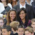 Sandrine Quétier et Amel Bent lors du 4e prix Ambassadeur ELA au musée du Quai Branly à Paris le 8 juin 2011