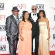 Morgan Freeman et ses enfants à l'occasion du Lifetime Achievement Award en son honneur, dans le cadre du 39e AFI, aux studios de Sony Pictures, à Los Angeles, le 9 juin 2011.